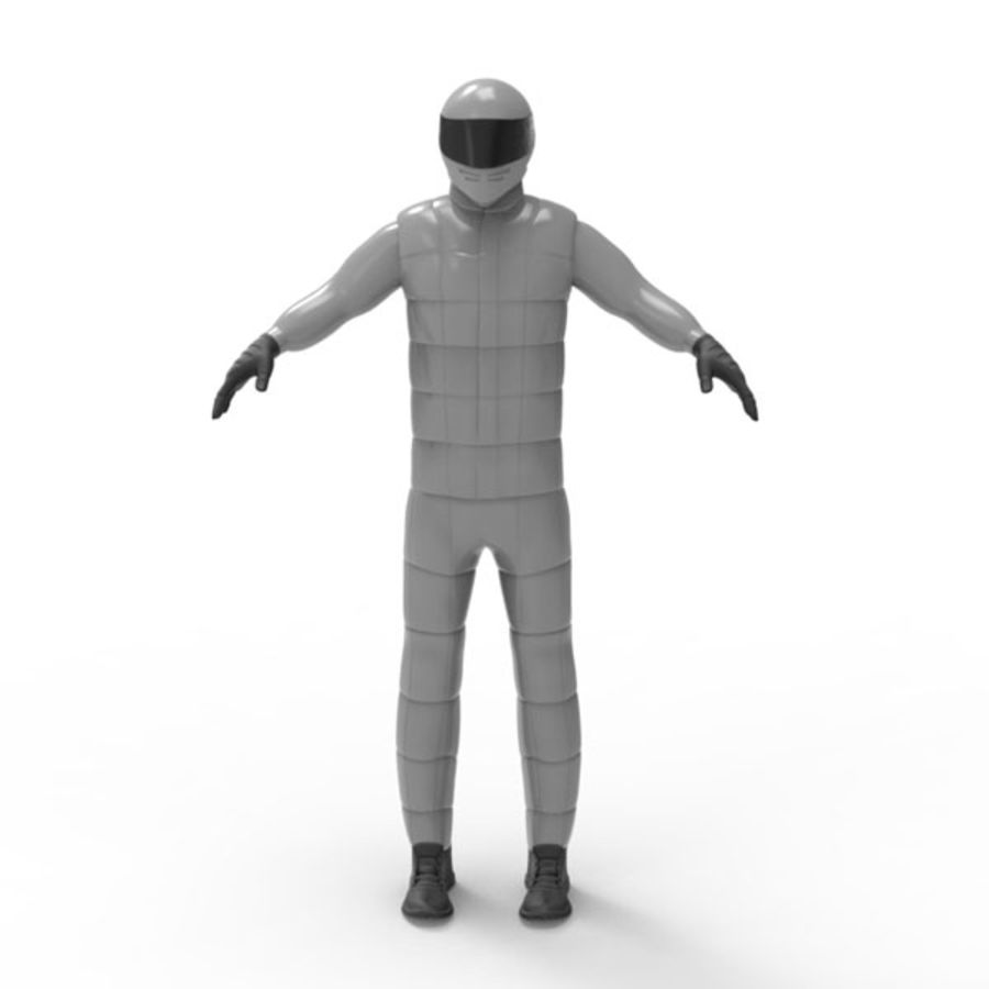 Racing driver royalty-free 3d model - Preview no. 3