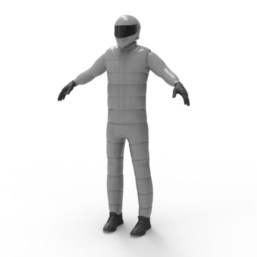 Racing driver royalty-free 3d model - Preview no. 1