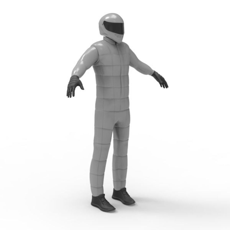Racing driver royalty-free 3d model - Preview no. 2