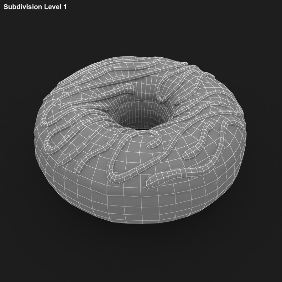 Donut Vanilla royalty-free 3d model - Preview no. 17