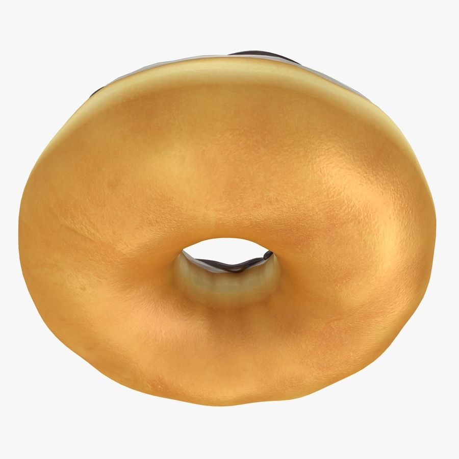 Donut Vanilla royalty-free 3d model - Preview no. 10