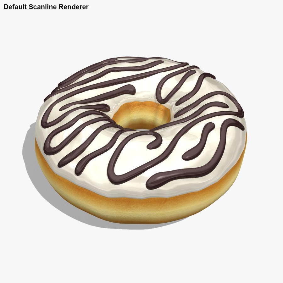 Пончик ваниль royalty-free 3d model - Preview no. 20