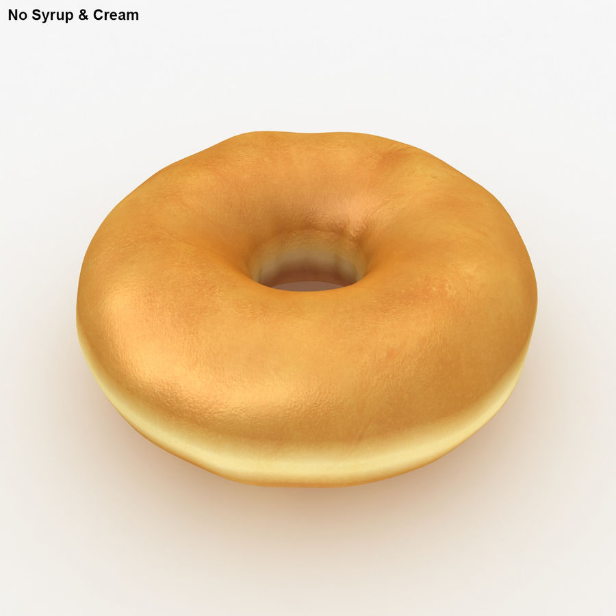 Donut Vanilla royalty-free 3d model - Preview no. 4