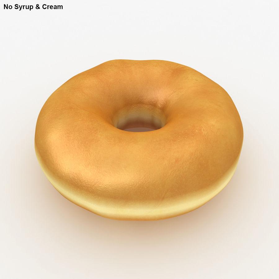 Пончик ваниль royalty-free 3d model - Preview no. 4