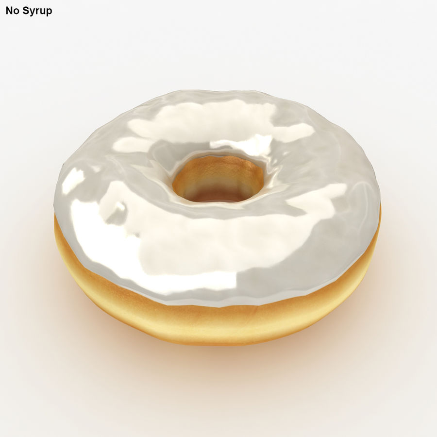 Donut Vanilla royalty-free 3d model - Preview no. 3