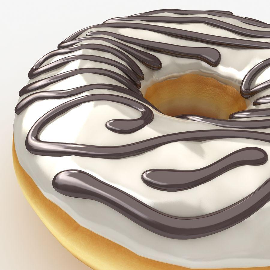 Пончик ваниль royalty-free 3d model - Preview no. 6