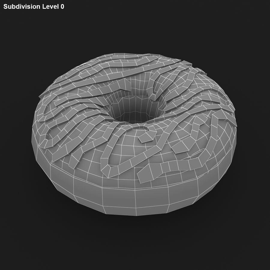 Donut Vanilla royalty-free 3d model - Preview no. 16