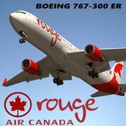 Boeing 767 300 Air Canada 3d model
