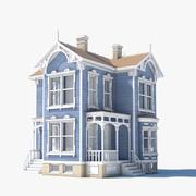 Niebieski dom 3d model