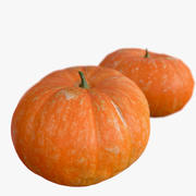 Pumpkin_3 Big High And Low Poly Scaned 3d model