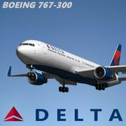 Boeing 767 300 Delta Air Lines 3d model
