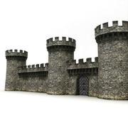 Ściany zamku 1 3d model