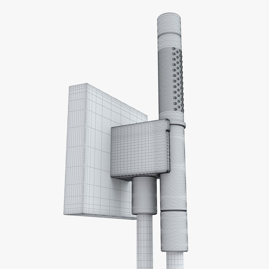 Hansgrohe Axor Starck Organic shower royalty-free 3d model - Preview no. 14