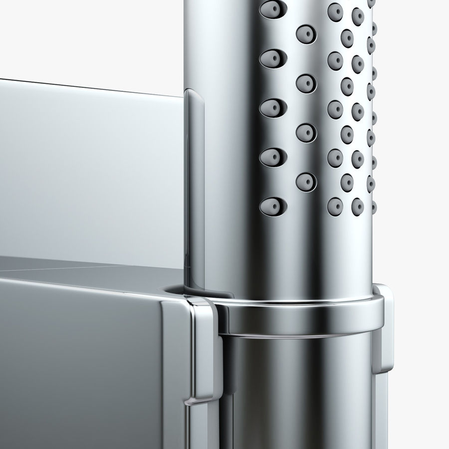 Hansgrohe Axor Starck Organic shower royalty-free 3d model - Preview no. 7