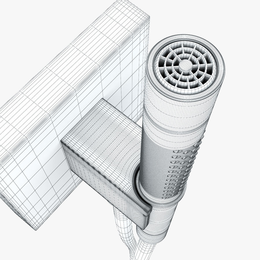 Hansgrohe Axor Starck Organic shower royalty-free 3d model - Preview no. 13