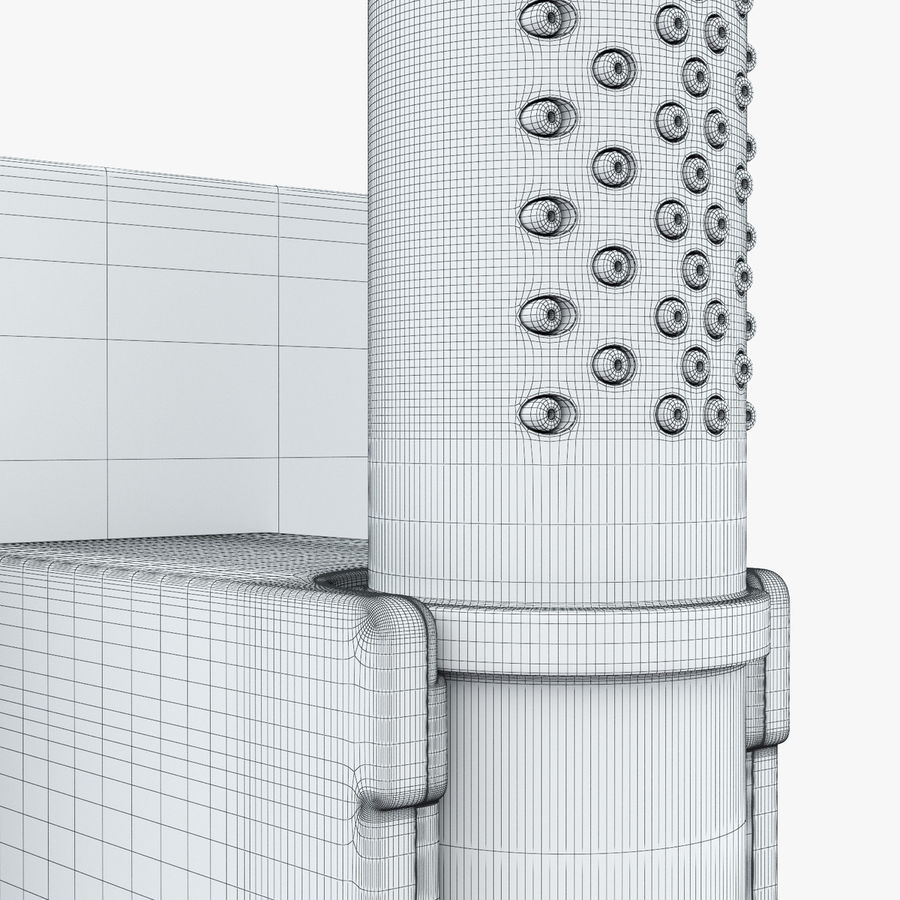 Hansgrohe Axor Starck Organic shower royalty-free 3d model - Preview no. 12