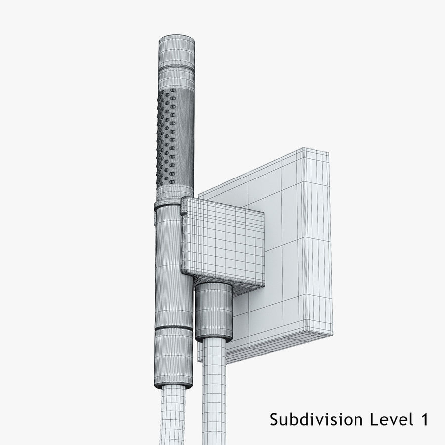 Hansgrohe Axor Starck Organic shower royalty-free 3d model - Preview no. 6