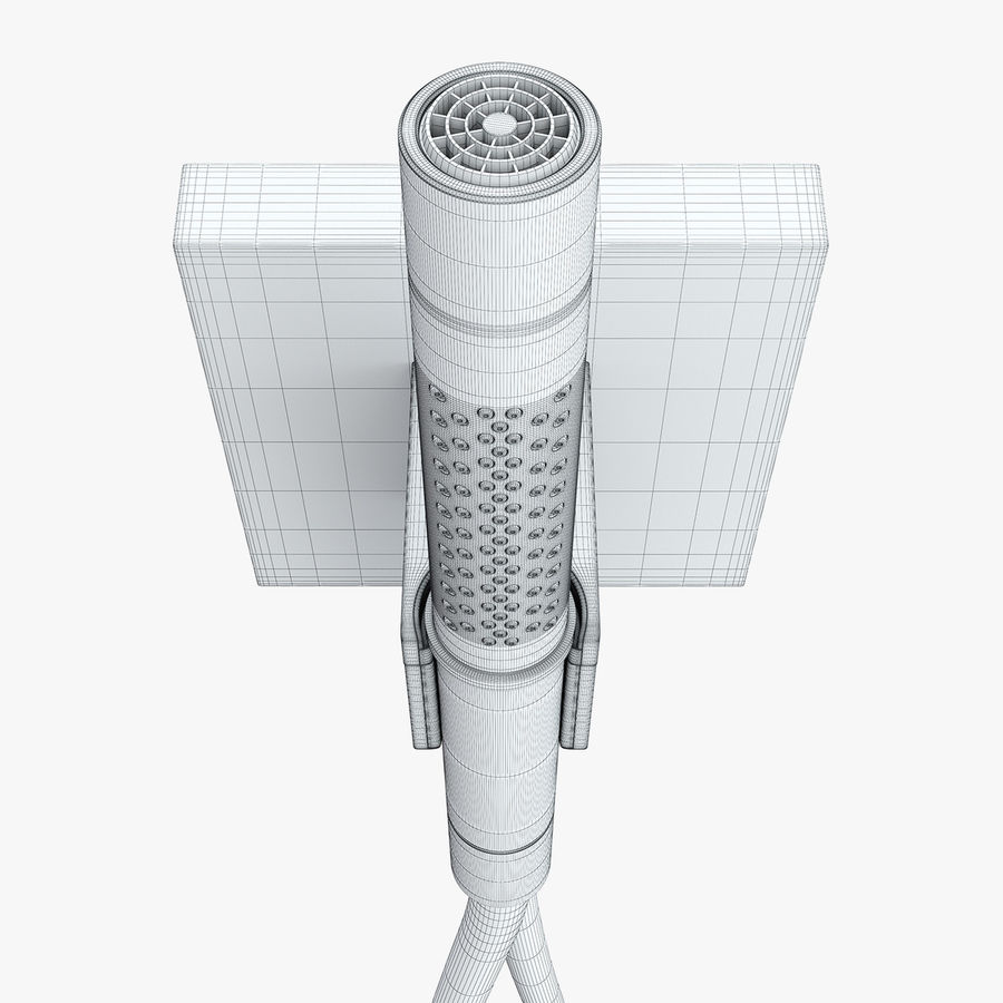 Hansgrohe Axor Starck Organic shower royalty-free 3d model - Preview no. 16