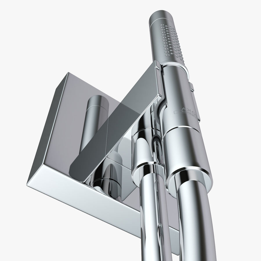 Hansgrohe Axor Starck Organic shower royalty-free 3d model - Preview no. 10