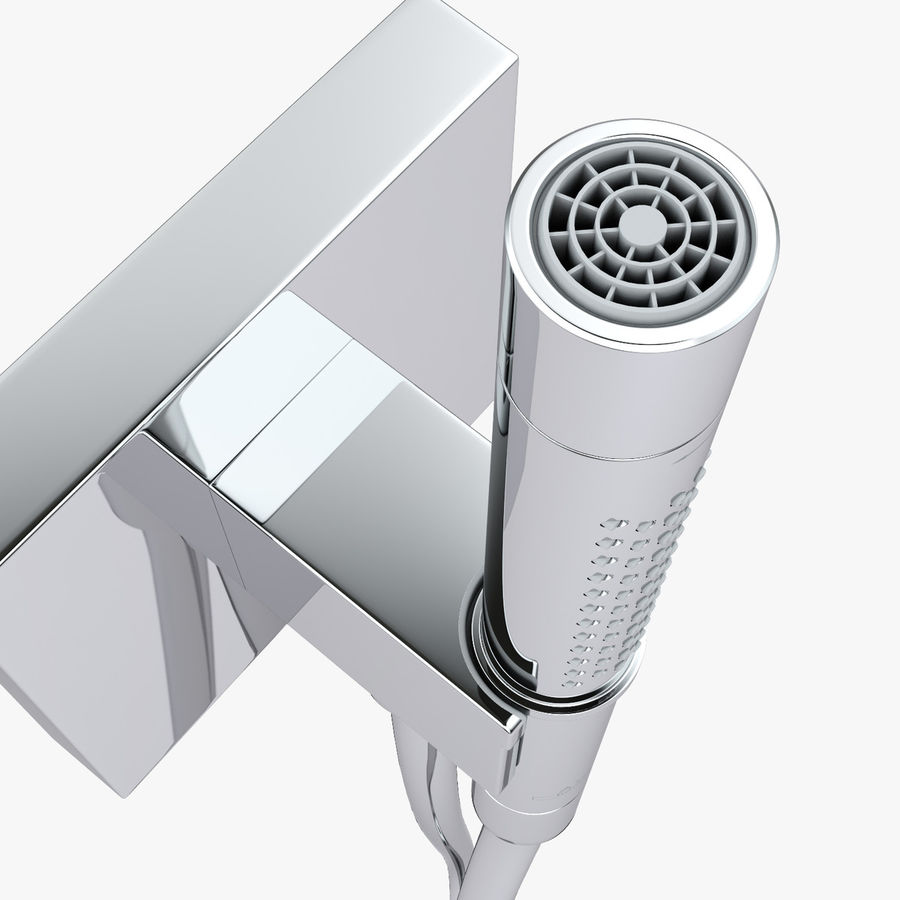 Hansgrohe Axor Starck Organic shower royalty-free 3d model - Preview no. 8