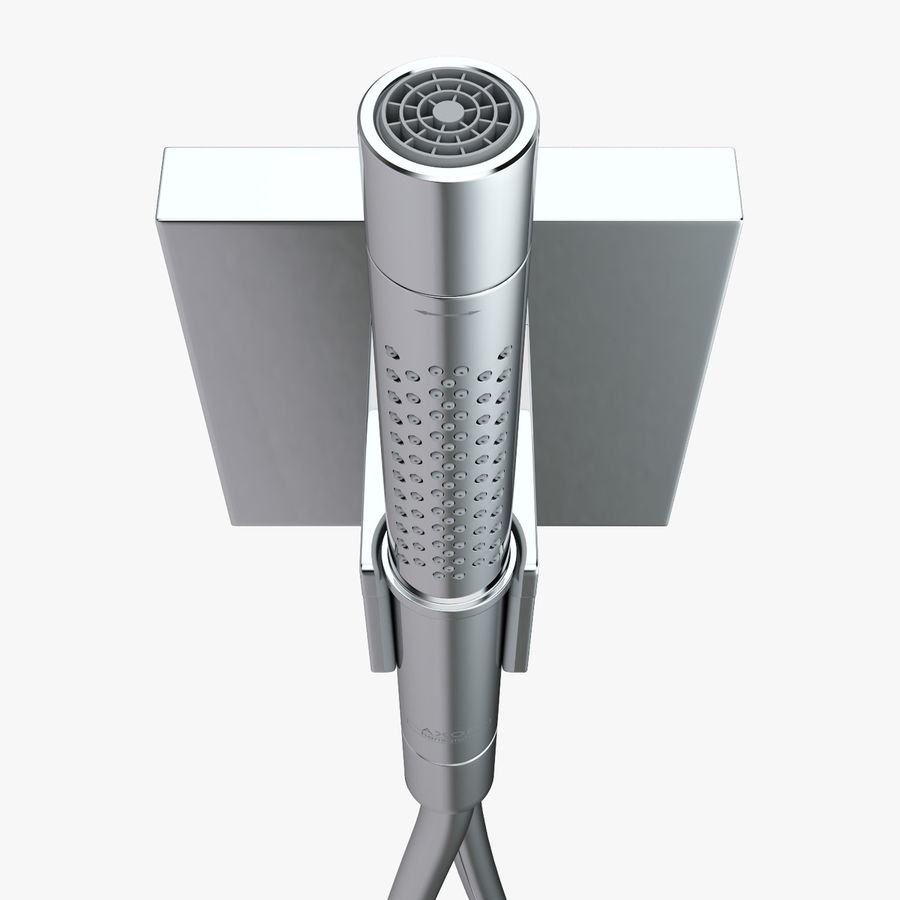 Hansgrohe Axor Starck Organic shower royalty-free 3d model - Preview no. 11