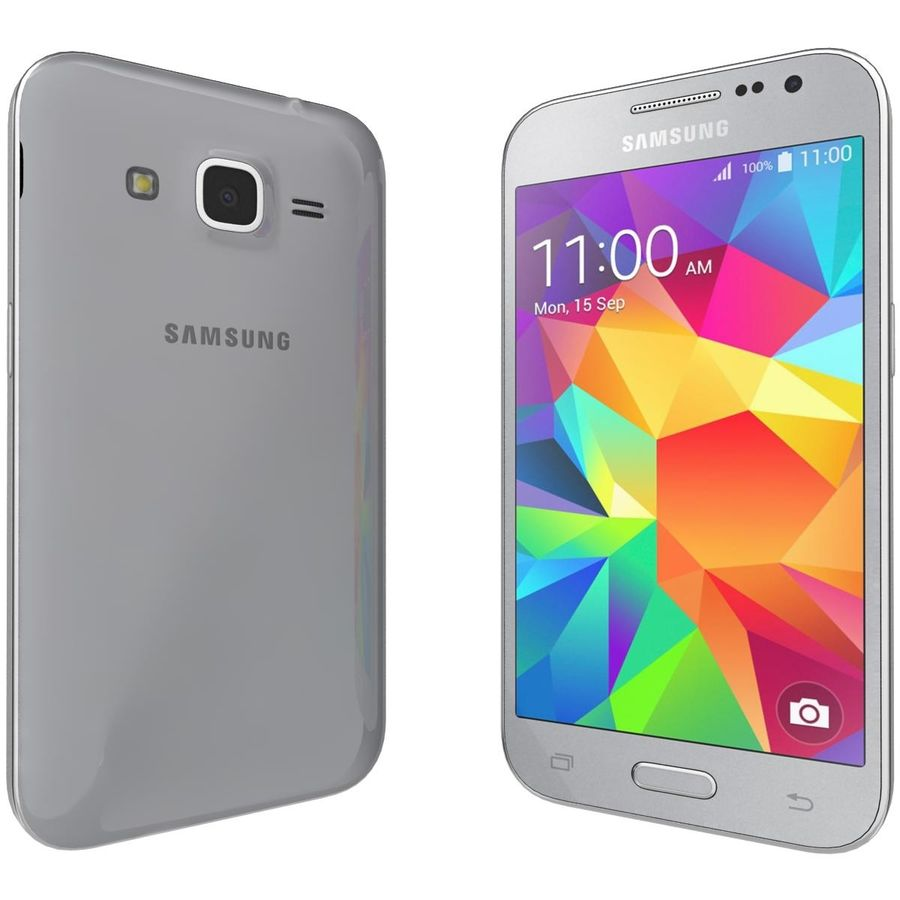 Samsung Galaxy Core Prime Grey royalty-free modelo 3d - Preview no. 3