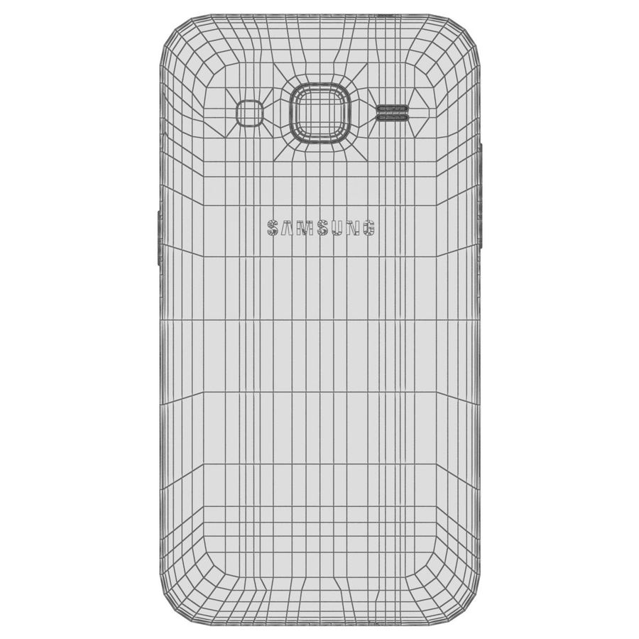 Samsung Galaxy Core Prime Grey royalty-free modelo 3d - Preview no. 28