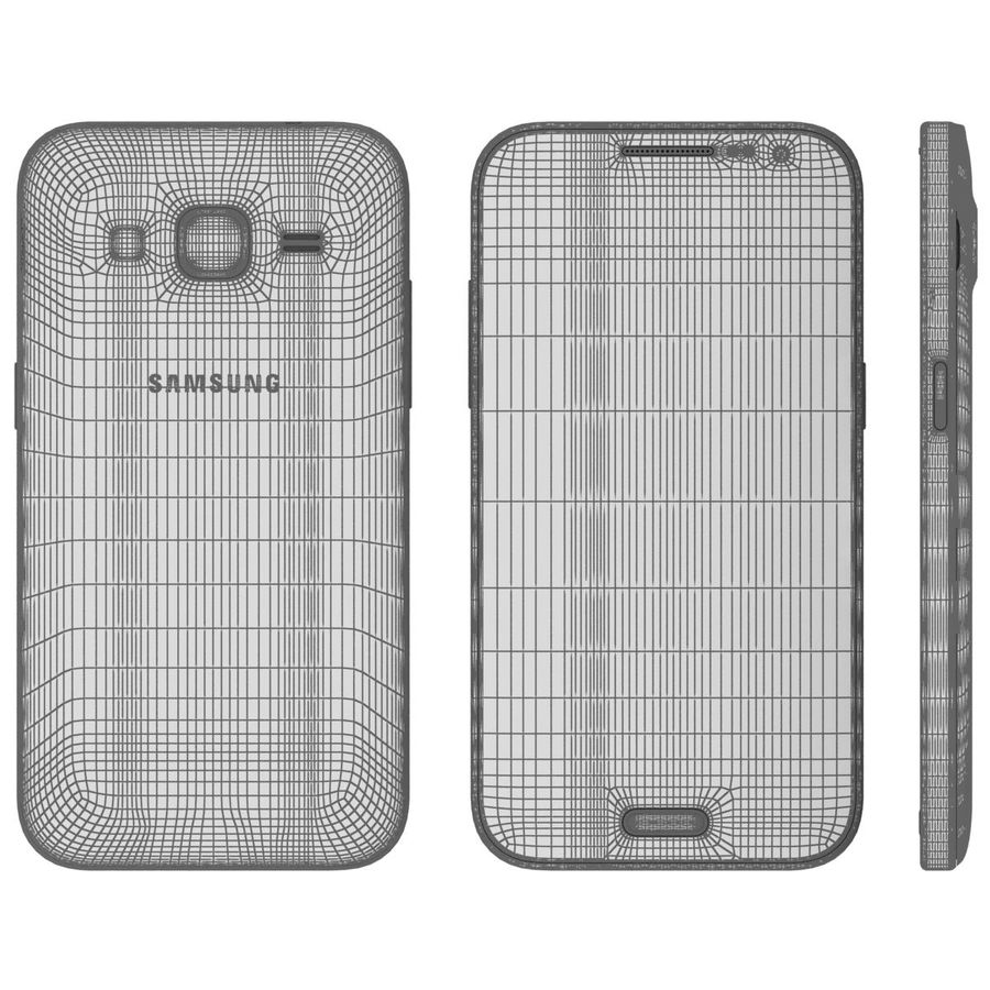 Samsung Galaxy Core Prime Grey royalty-free modelo 3d - Preview no. 25