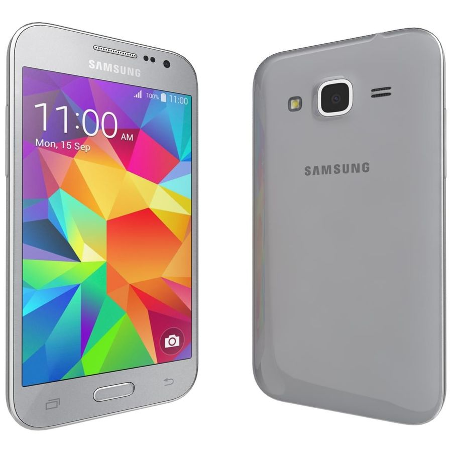 Samsung Galaxy Core Prime Grey royalty-free modelo 3d - Preview no. 4