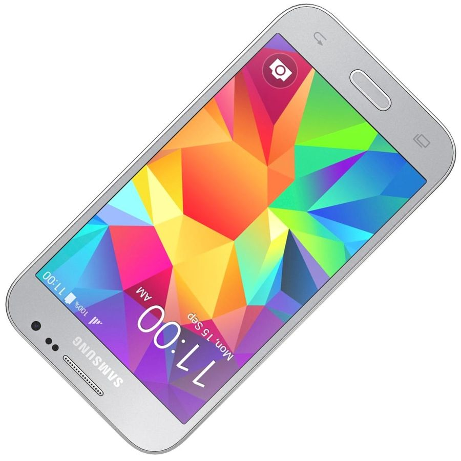 Samsung Galaxy Core Prime Grey royalty-free modelo 3d - Preview no. 17