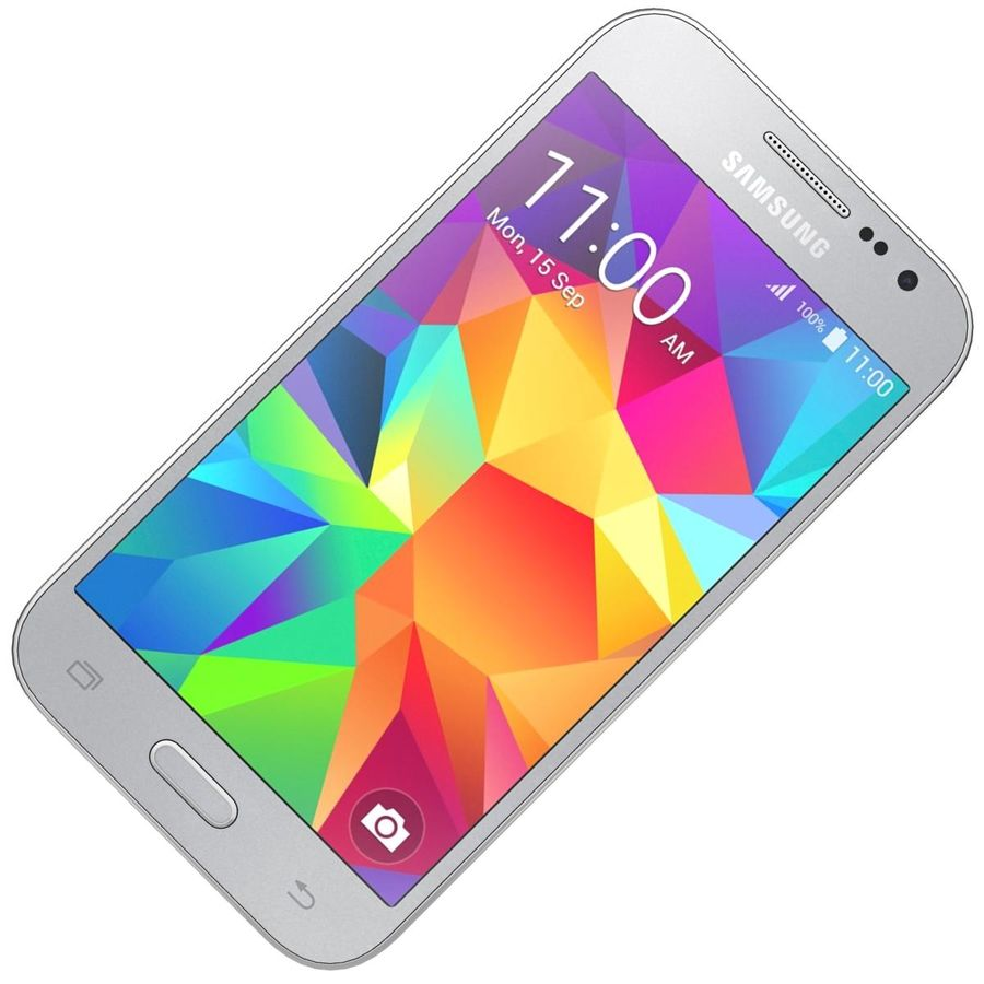 Samsung Galaxy Core Prime Grey royalty-free modelo 3d - Preview no. 15
