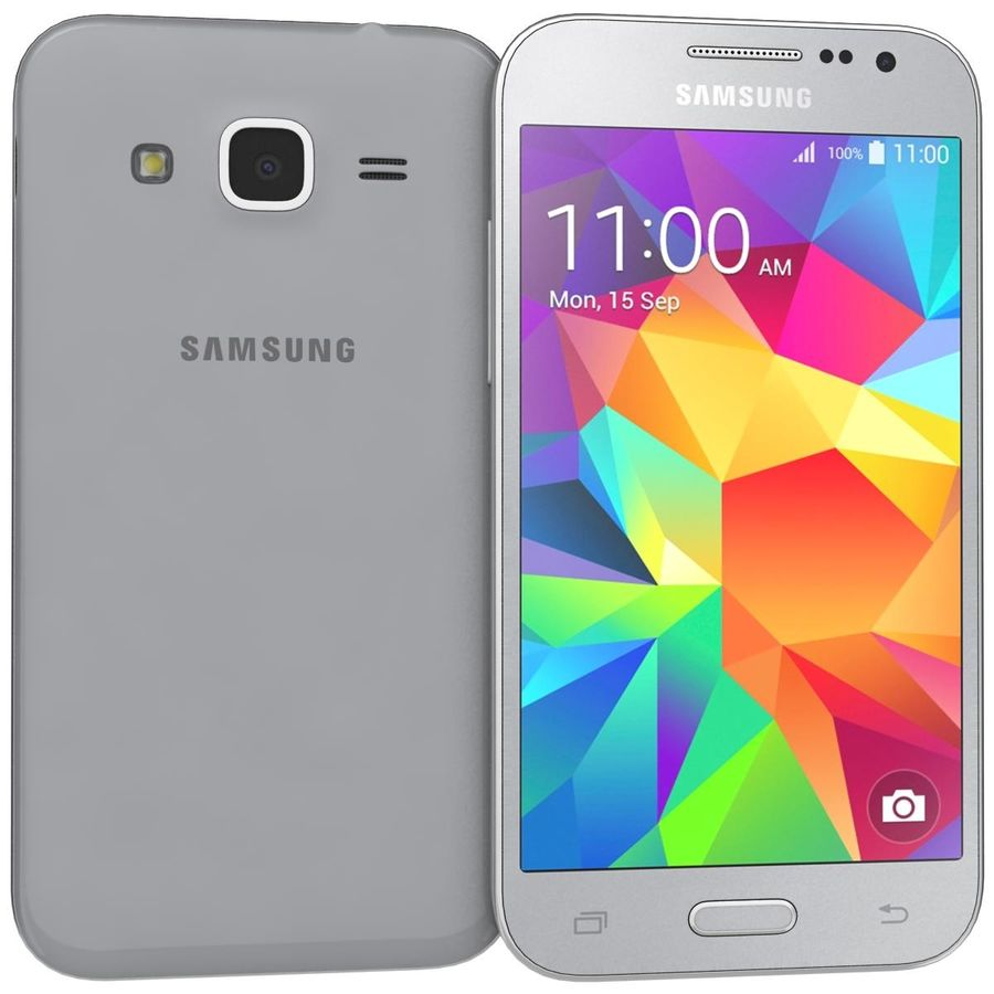 Samsung Galaxy Core Prime Grey royalty-free modelo 3d - Preview no. 2