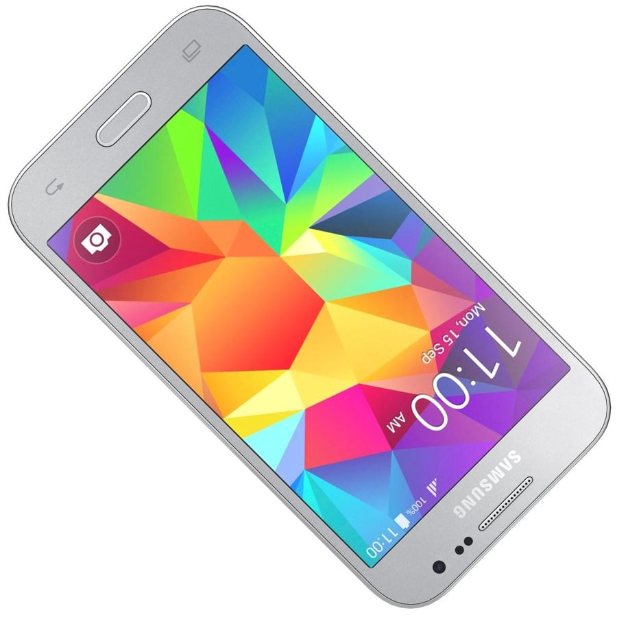 Samsung Galaxy Core Prime Grey royalty-free modelo 3d - Preview no. 16