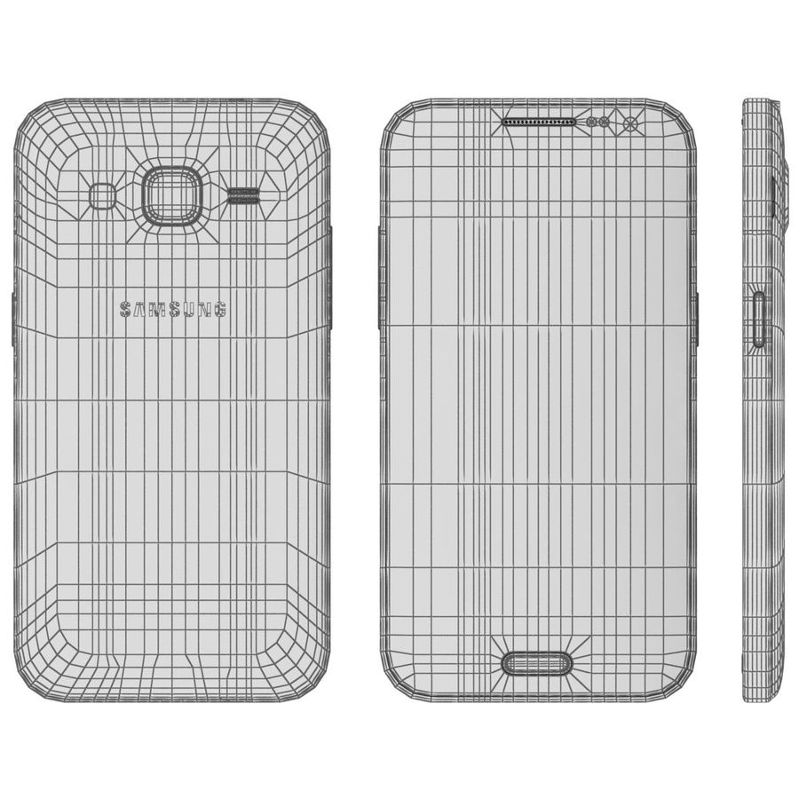 Samsung Galaxy Core Prime Grey royalty-free modelo 3d - Preview no. 23
