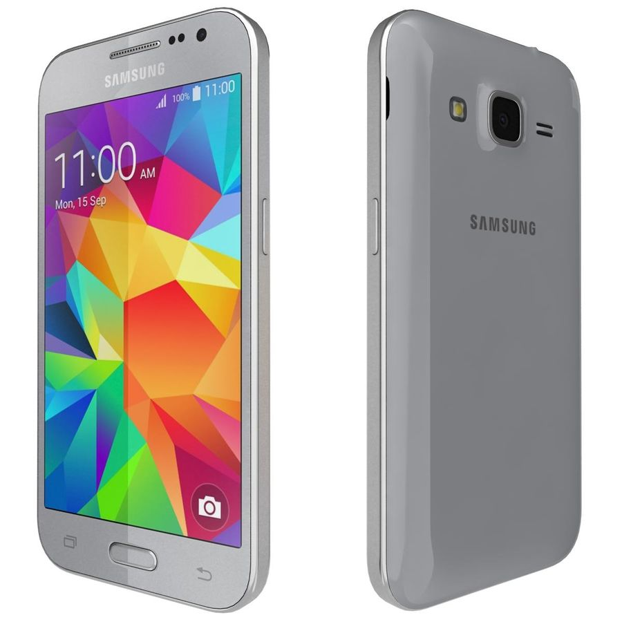 Samsung Galaxy Core Prime Grey royalty-free modelo 3d - Preview no. 5