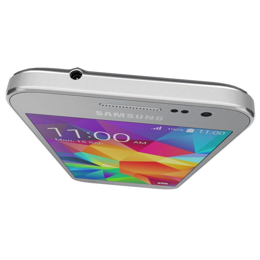 Samsung Galaxy Core Prime Grey royalty-free modelo 3d - Preview no. 11