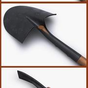 топор кирка лопата 3d model