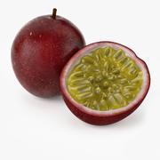 Fruta de la pasión realista modelo 3d