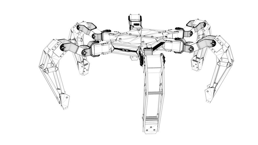 Hexapod Concept royalty-free 3d model - Preview no. 11