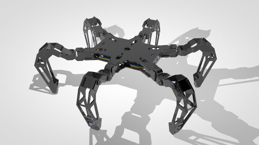 Hexapod Concept royalty-free 3d model - Preview no. 9