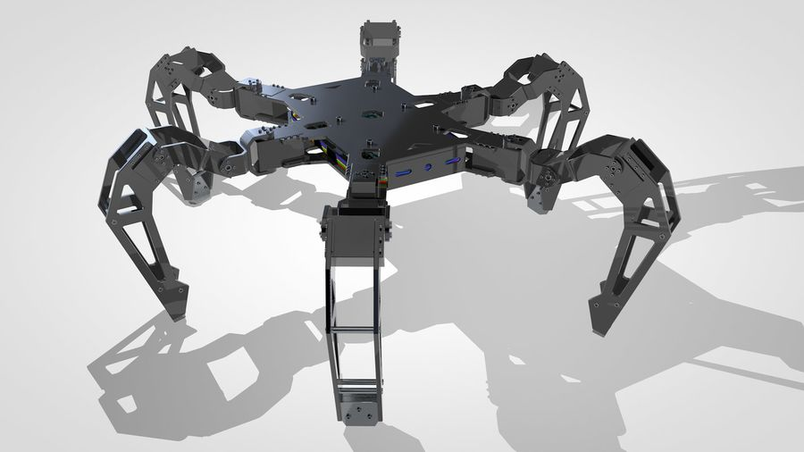 Hexapod Concept royalty-free 3d model - Preview no. 7