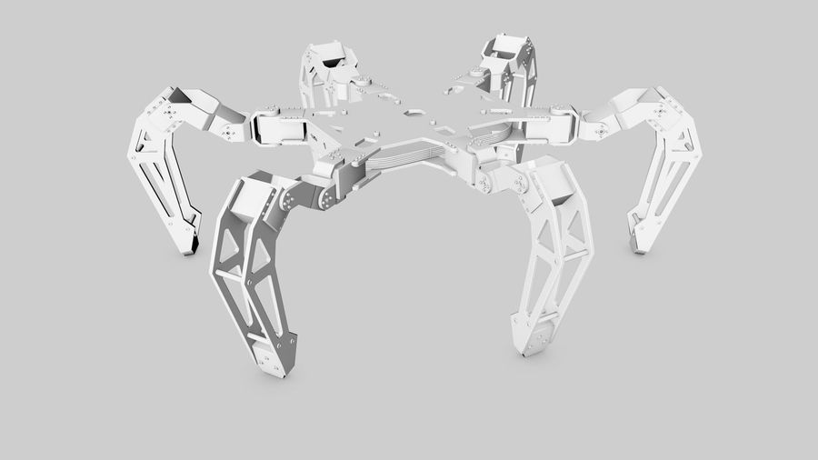 Hexapod Concept royalty-free 3d model - Preview no. 10