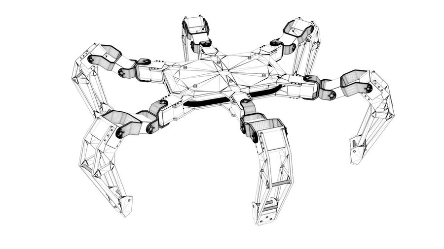Hexapod Concept royalty-free 3d model - Preview no. 12