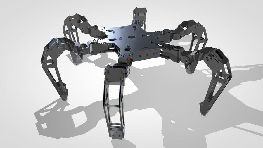 Hexapod Concept royalty-free 3d model - Preview no. 1