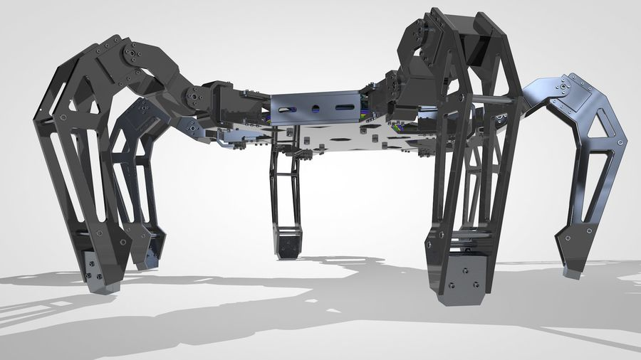 Hexapod Concept royalty-free 3d model - Preview no. 5