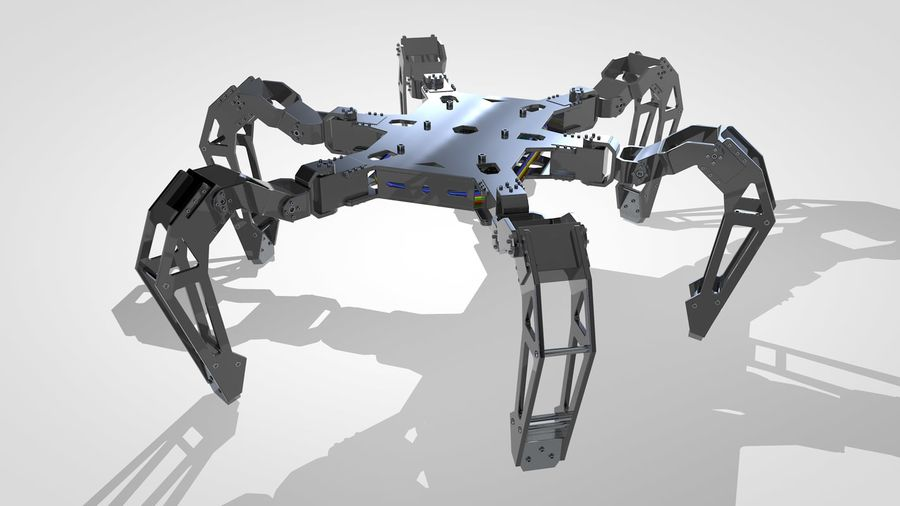 Hexapod Concept royalty-free 3d model - Preview no. 3