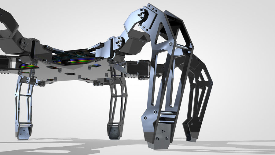 Hexapod Concept royalty-free 3d model - Preview no. 2