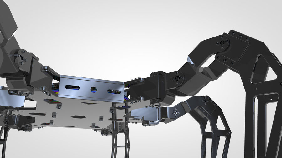 Hexapod Concept royalty-free 3d model - Preview no. 4