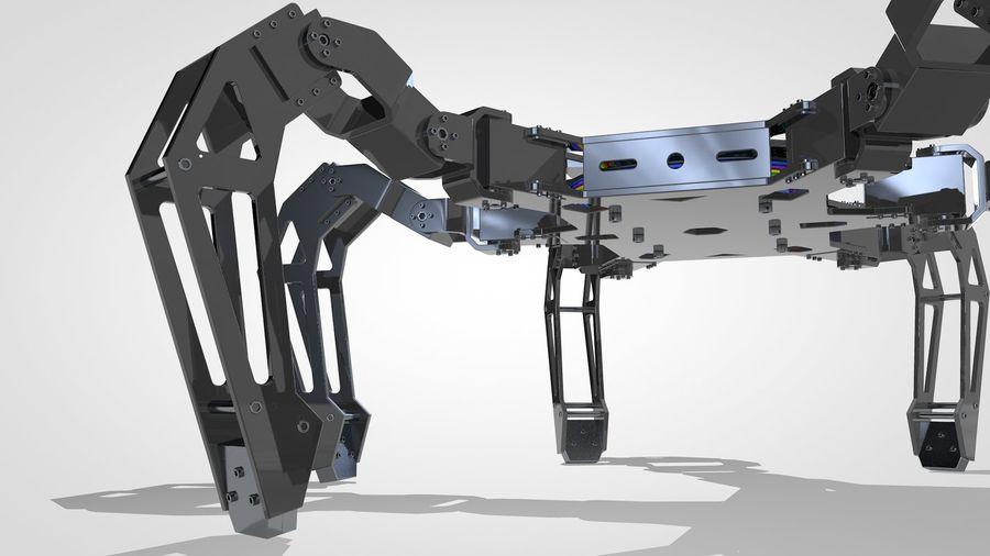 Hexapod Concept royalty-free 3d model - Preview no. 8
