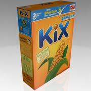 caja de cereal kix modelo 3d